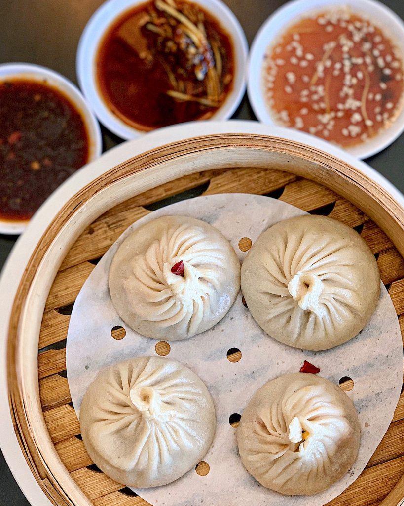 Mala spicy soup dumplings from Fat Dragon