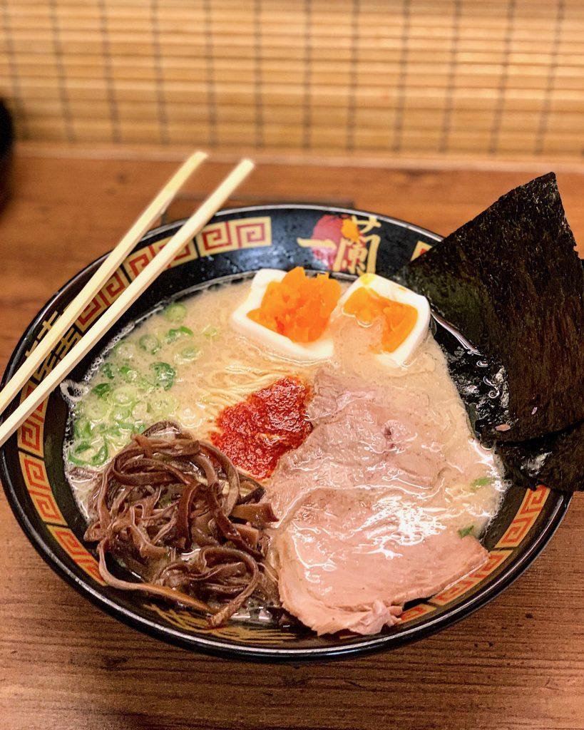 tonkotsu ramen from Ichiran in Tokyo