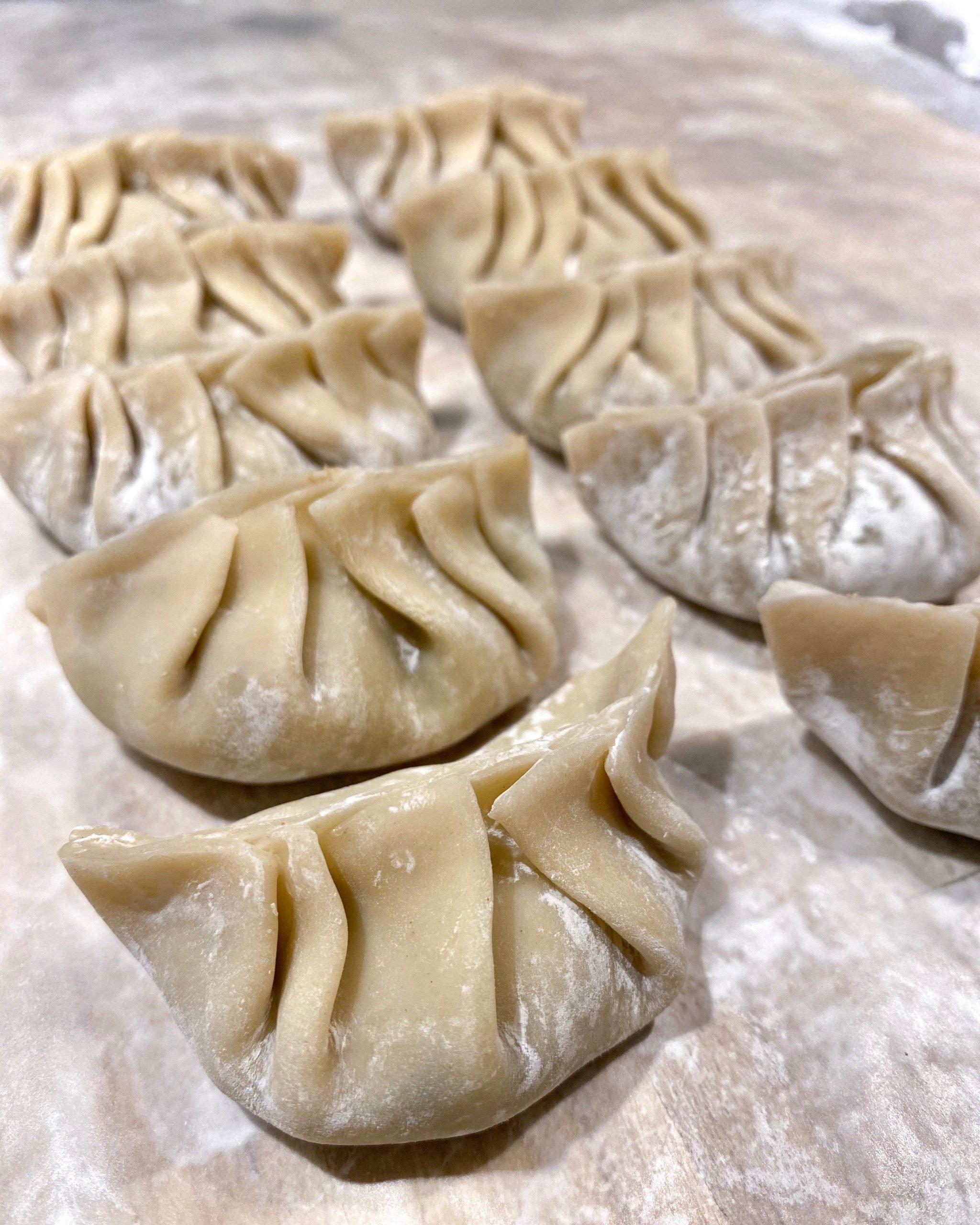froze pork dumplings