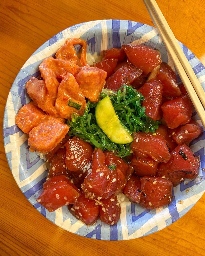 ahi tuna poké bowl from Eskimo Candy