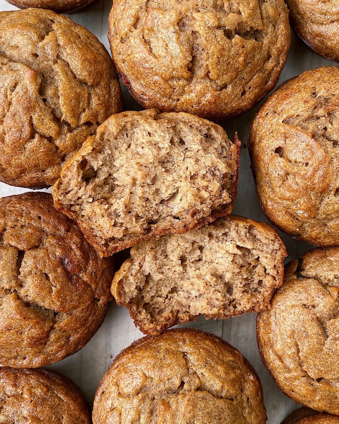 Reduced-Sugar Banana Bread Muffins