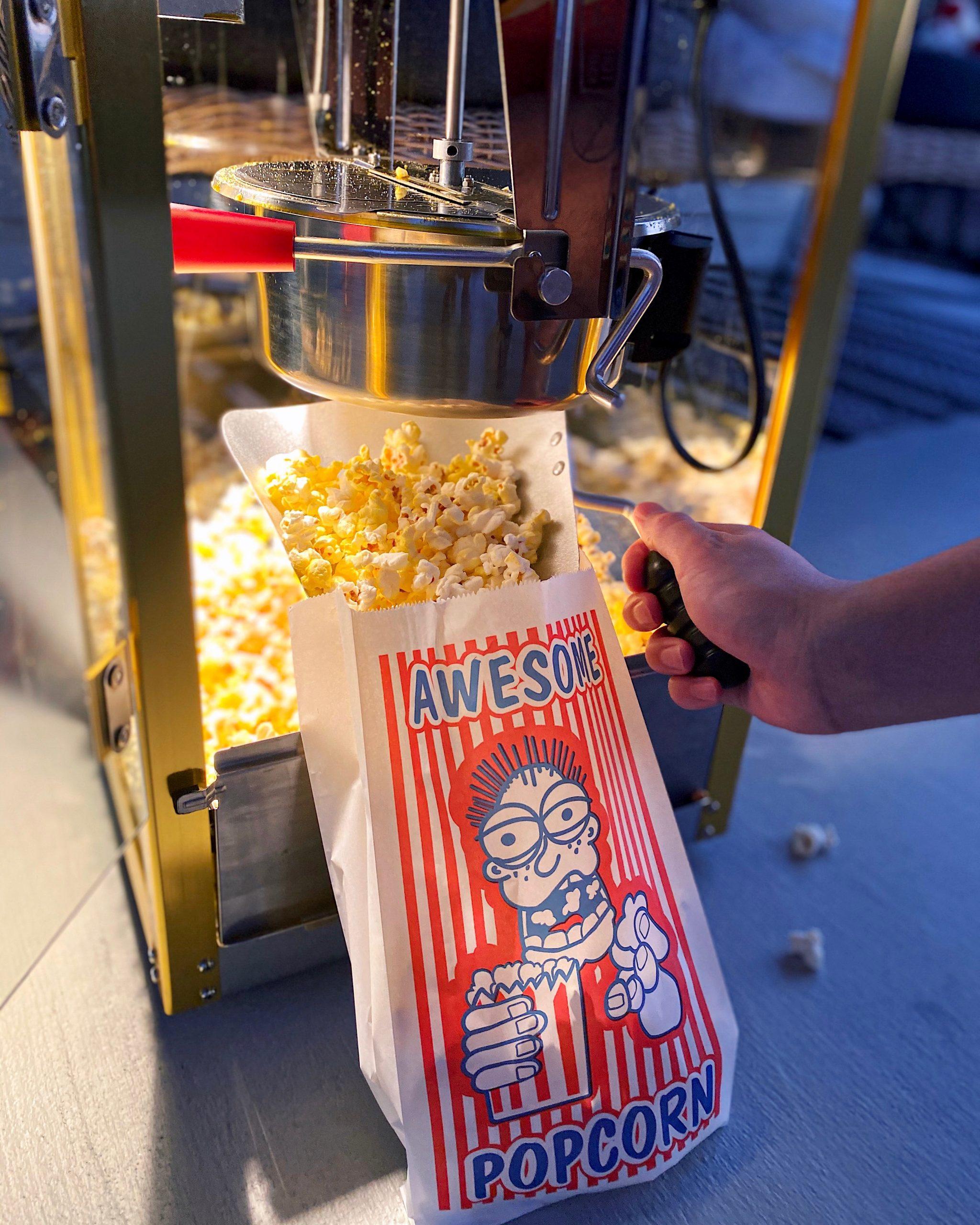 buttery popcorn machine