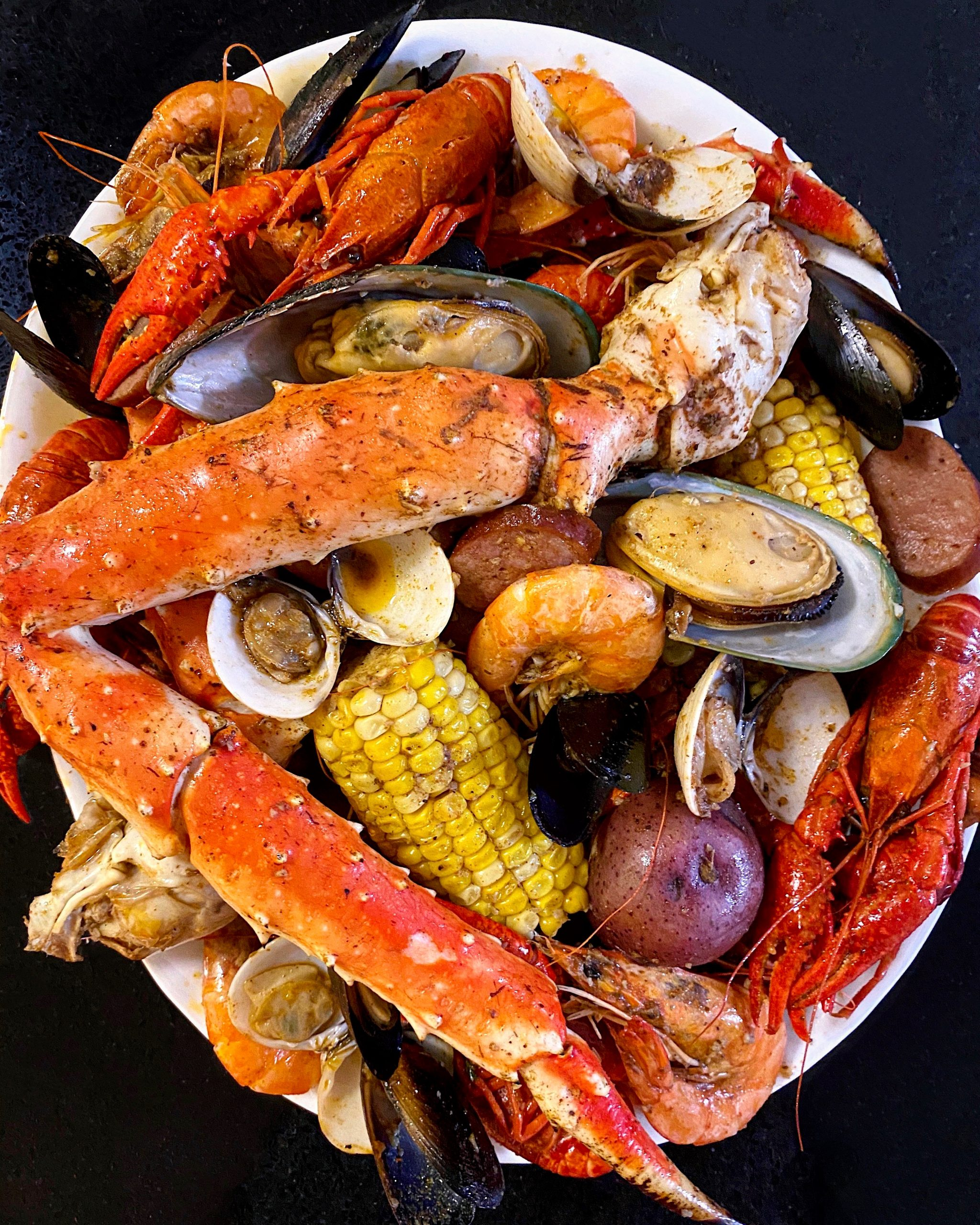 build your own seafood boil at J.C. Seafood House