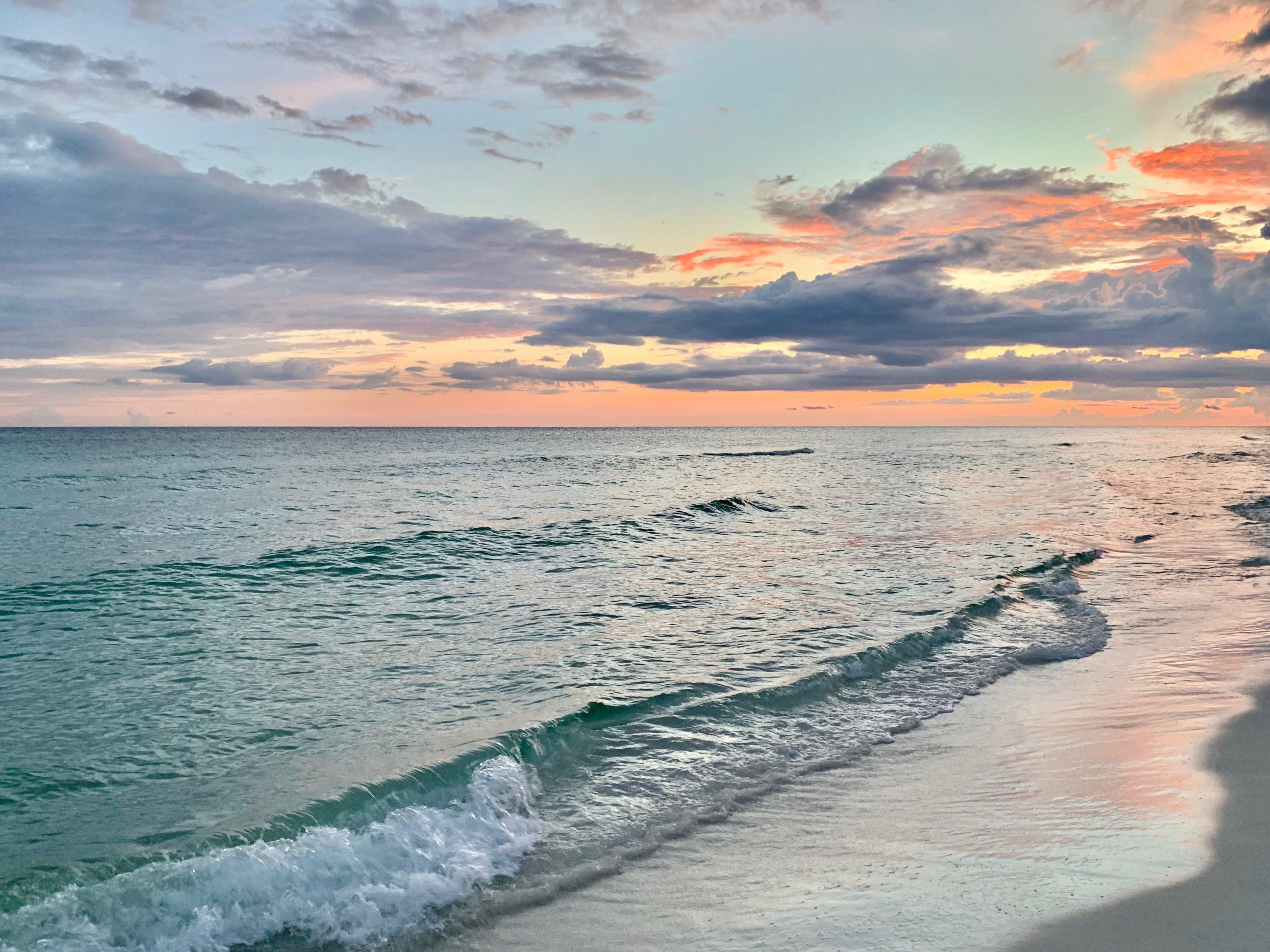 sunset at Miramar Beach, South Walton, Florida