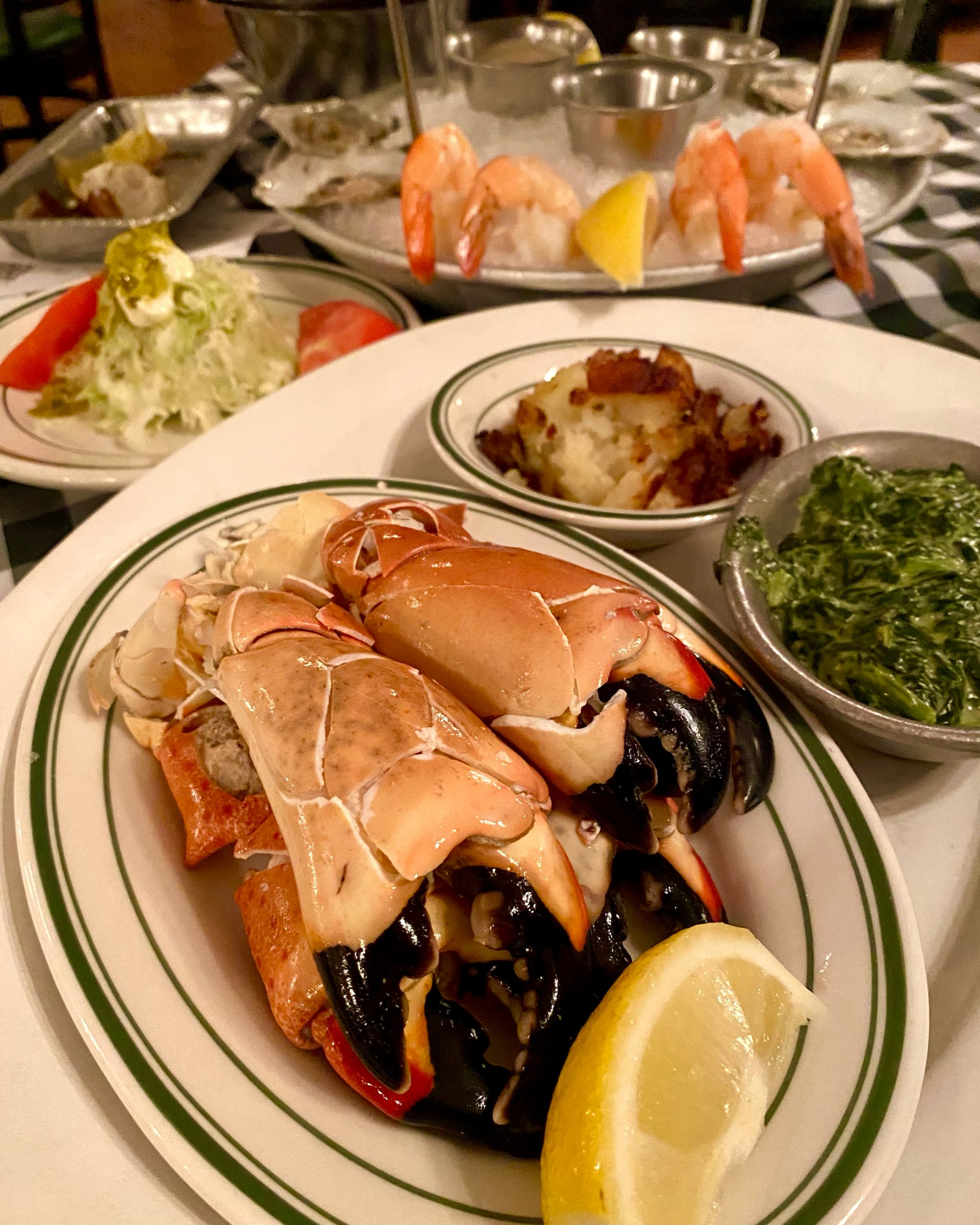 Stone crabs from Joe's Stone Crab