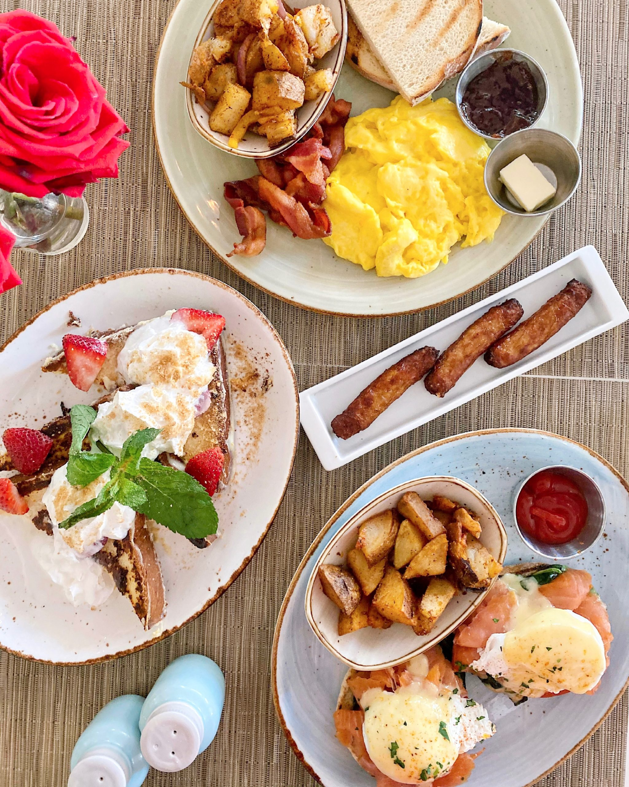 key lime french toast, smoked salmon benedict at Local House brunch